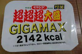 ギガ?メガ?超超超大盛 GIGAMAX?!?!?