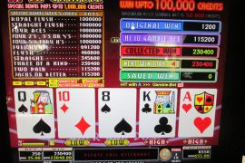 WIN A ROW FOUR OF A KIND BONUS 230,400枚