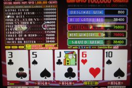 WIN A ROW FOUR OF A KIND BONUS 115,200枚