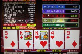 WIN A ROW FOUR OF A KIND BONUS 57,600枚