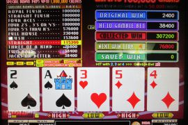WIN A ROW FOUR OF A KIND BONUS 307,200枚