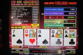 WIN A ROW FOUR OF A KIND BONUS 224,000枚