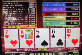 WIN A ROW FOUR OF A KIND BONUS 64,800枚